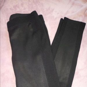 Express Faux Leather Panel Leggings